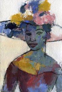 Mujer con sombrero 3