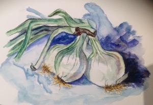 Cebollas tiernas
