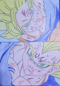 Goku y vegeta, Roy mustang y Airoria de Leo