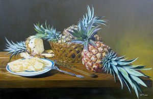 Basket with Pineapples