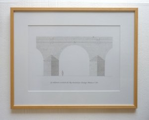 Drawing Eye of the Bridge-aqueduct of the King [pencil on paper]