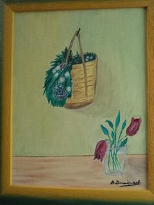 BASKET AND FLOWER