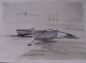 Drifting boats