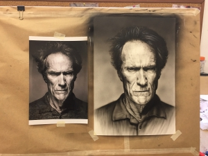 Retrato Clint Eastwood