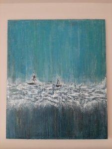 """"""" La magia del océano """", 120x100 cm, Rebajas de Navidad 50%, 450 euros"""