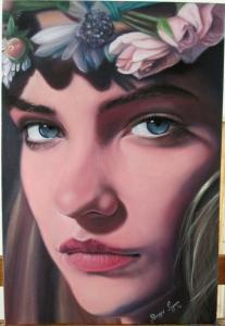 Hermoso rostro - Retrato al oleo
