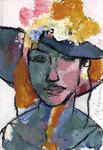 Woman with hat 2
