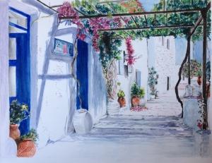 A street in Mykonos