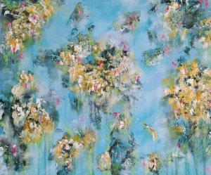 """""""Jardín florido 02"""", 50x60cm, 120e"""