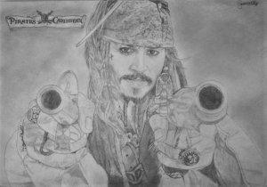 Dibujo Jack Sparrow a lápiz
