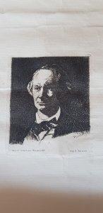 Charles Baudelaire de face. Edouard Manet. 1865