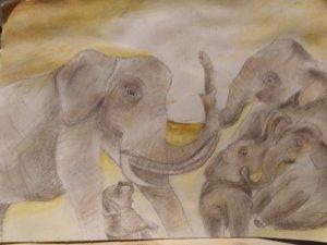 Elefantes adorados