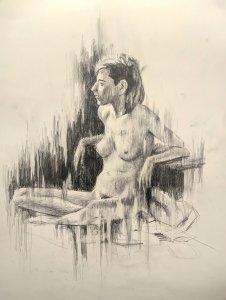 Figura humana femenina. dibujos originales online