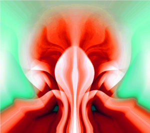 The Alien Flower.Abstracted digital artwork.