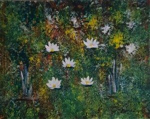 """""""Lake of water lilies 03"""", 100 euros, 50x40cm"""