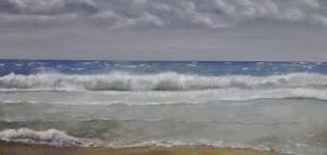 Mirando el mar tormentoso