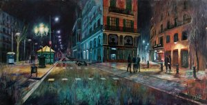 Ramblas of Barcelona. Large paintings for living room