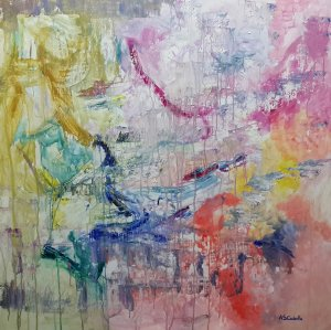 Abstract clarity 90X90 CM.
