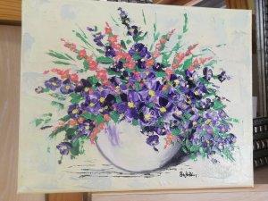 Esfera con Violetas