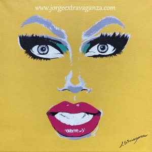Canvas painting Pop-art Rupaul