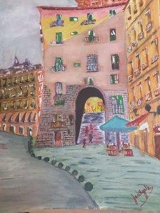Street and Arco de Cuchilleros (Madrid)