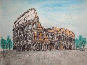 Coliseum. Roma series.