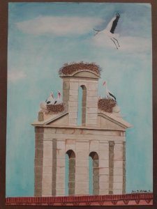 San Ildefonso with storks