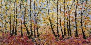 Panorámica del bosque amarillo
