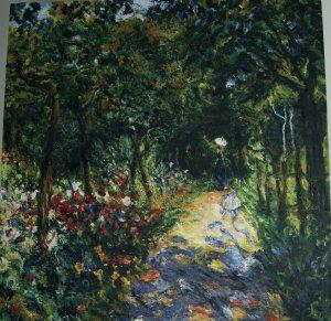 Estudio pintura de Renoir (Mujer en el jardín)