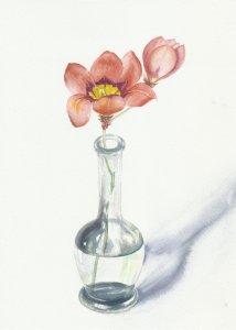 Flores en jarrón