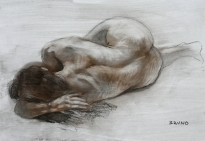 Female Nude in Foreshortening 1