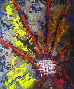 Estrategia cromática...ENVÍO GRATIS...lienzo 100x80 cm