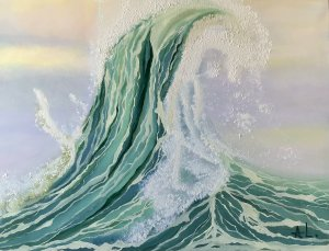 """""""Visual symphony of the waves Ill"""" 80/60 cm"""
