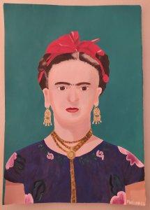 Frida Kahlo poses