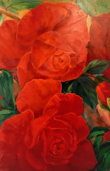 Red roses 100x70
