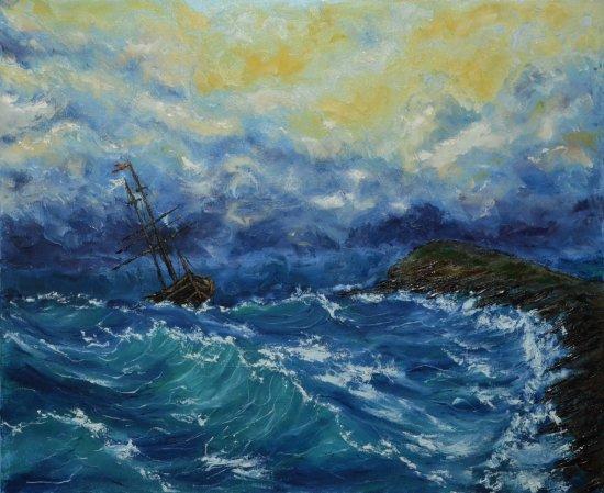 El mar Cantábrico.