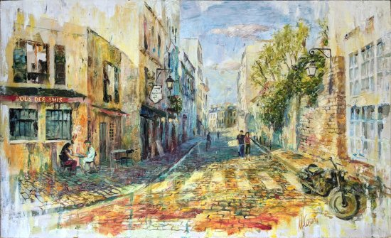 Road to Montmartre. Paris. Original paintings painted by hand