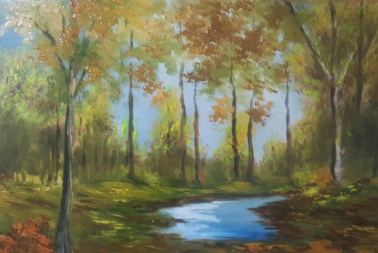 Tranquility ... Painted landscape.
