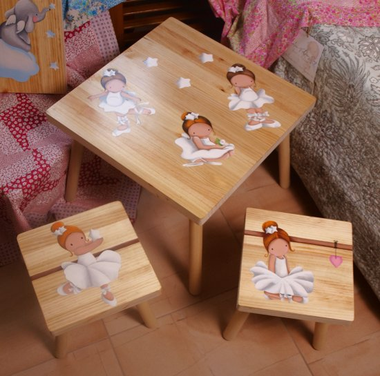 Customizable children's table and chairs set