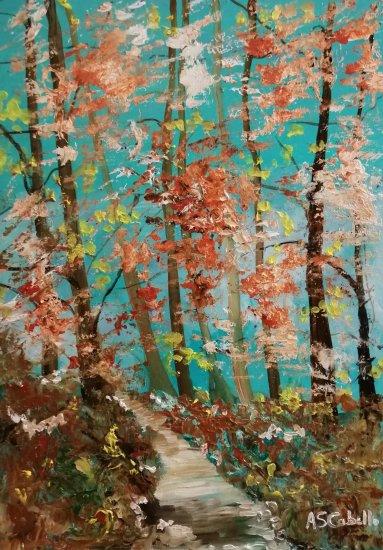 Luz de otoño en el bosque