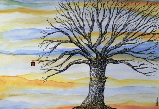 El árbol De La Vida Técnica Mixta Dibujos Comprar Arte Original