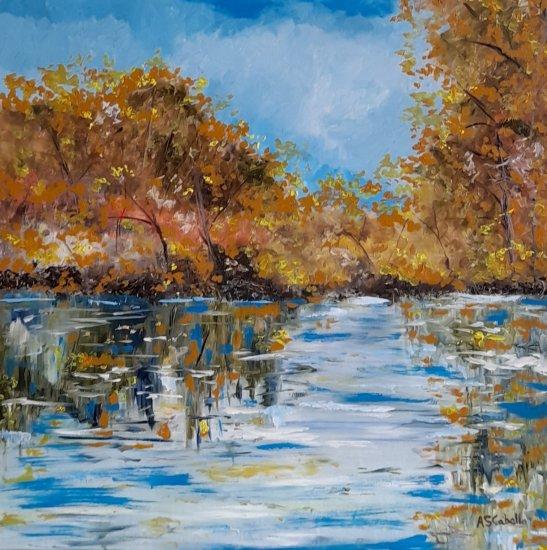 Luz y claros en el río