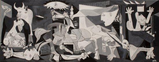 Oil replic of Guernica (Pablo Picasso) Réplica del Gernika al óleo 100x40