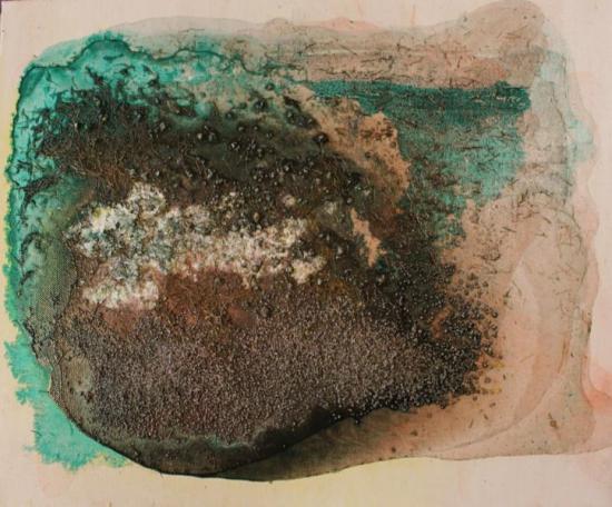 Estanque cuadro original media mixta sobre lienzo for Precio estanque