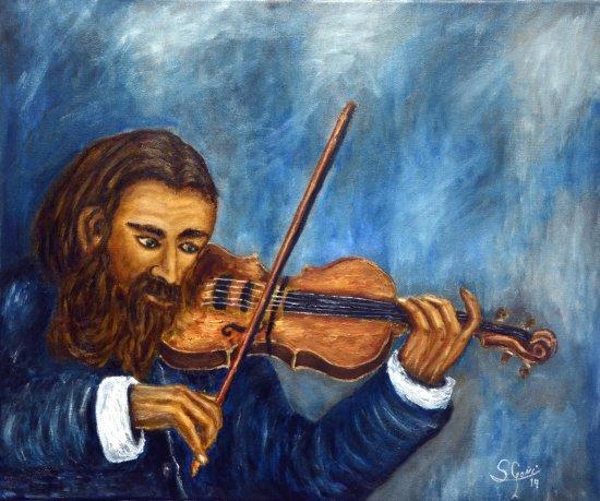 Evaristo the violin.