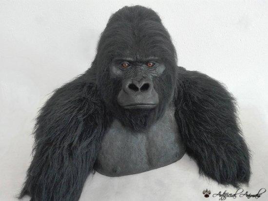 Synthetic mountain gorilla bust