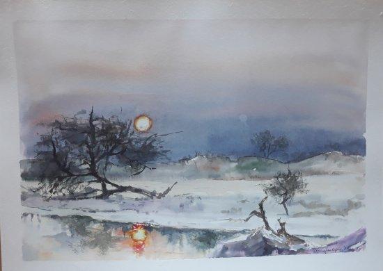 SUNSET AT ETOSHA PARK (NAMIBIA)