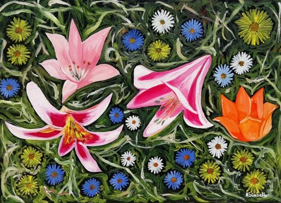 Flowers combination