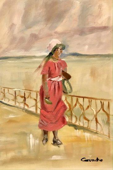 La dama de rosa