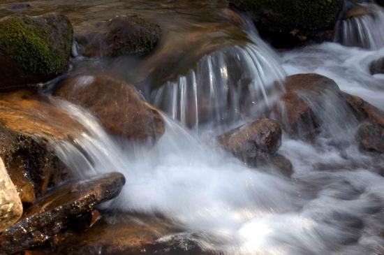 Warm waterfall.